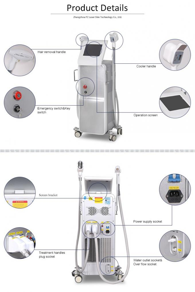 Lightsheer Diode Laser Hair Removal Equipment Professional , Adjustable Pulse Width