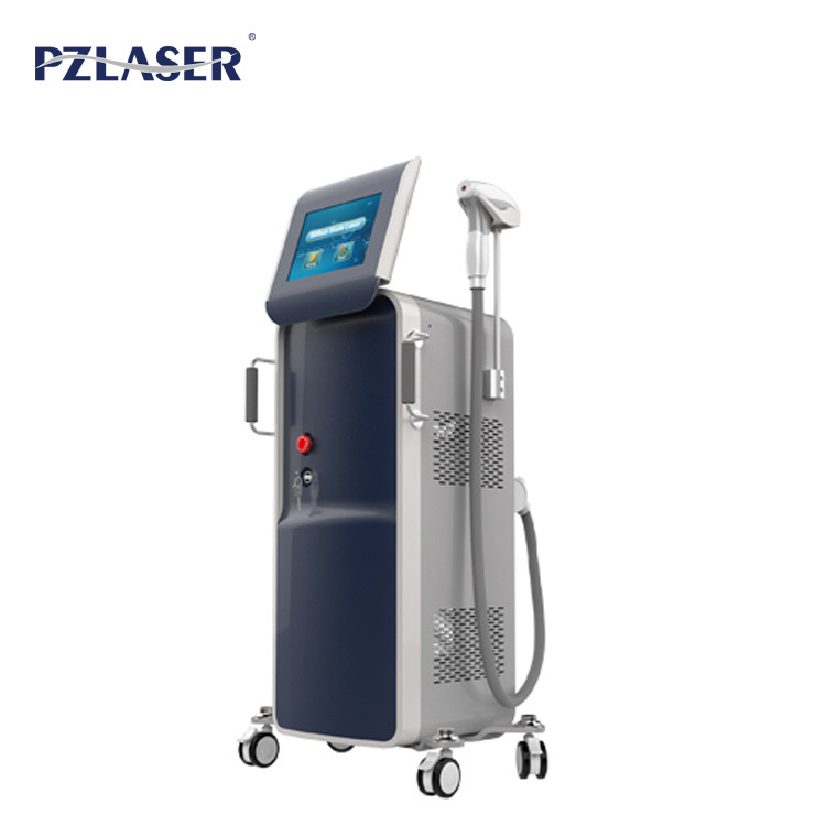 Safety No Pain Mobile Diode Laser Hair Removal Machine For Beauty Salons