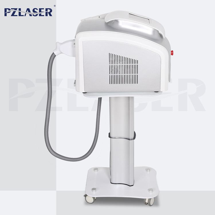 Mini Style Automatic Q Switched Nd Yag Laser Tattoo Removal Machine Stationary