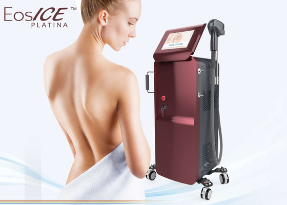 China Super Power Permanent Laser Hair Removal Device , Underarms Hair Removal Machine 3 Wavelength factory