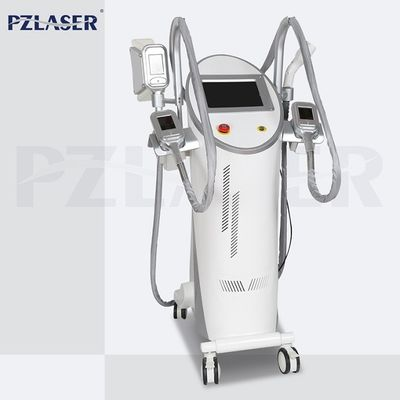 4 Handpieces Lipolysis Fat Freezing Machine Vacuum Cavitation System High Efficiency